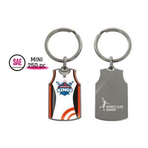PORTE-CLES METAL PERSONNALISABLE - BASKETBALL